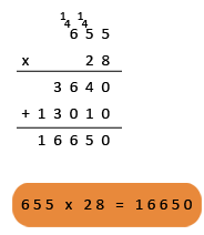 example of multiplication by a 2-digit number