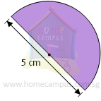 find area of semicircle