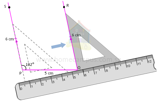 Drawing Perpendicular Lines Using Set Square : How to draw a parallelogram home campus