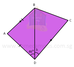 geometry finding unknown angles in a 4-sided figure